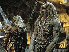 The Time Machine 2002 - Morlocks are troglofaunal humanoid creatures, said to have descended from humans, but by the century have evolved into a completely different species, said to be better suited to their subterranean habitat Time Machine Movie, The Time Machine, Humanoid Creatures, Sci Fi Films, Classic Sci Fi, Sci Fi Horror, Sad Faces, Hogwarts, Lion Sculpture