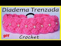 🌈Diadema tejida a Crochet o Ganchillo (PASO A PASO) crochet headband Crochet Hair Clips, Crochet Bows, Crochet Headband Pattern, Crochet Blanket Patterns, Crochet Crafts, Crochet Flowers, Crochet Projects, Crochet Headbands, Knit Headband