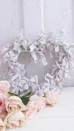 Shabby Chic Pink Valentine's Day - White Lace Cottage