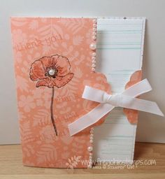 Stamp & Scrap with Frenchie: Scalloped Tag Topper Punch for Card Closure