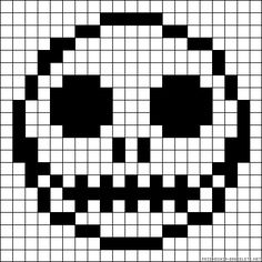 Jack Skellington perler bead pattern
