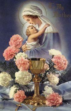 Religious Pictures, Religious Icons, Religious Art, Blessed Mother Mary, Blessed Virgin Mary, Holy Mary, Catholic Prayers, Catholic Art, Roman Catholic