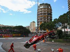Felipe Massa's car is lifted away - Monaco 2013