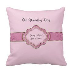 Our Wedding Day (Blue) Throw Pillow | Wedding day, Blue and Blue ...