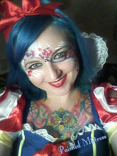 Red nose clowns and makeup on pinterest for Face painting clowns for birthday parties