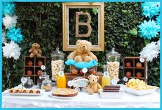 Teddy bear baby shower party! See more party ideas at CatchMyParty.com!