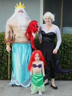 Family halloween Costumes Poseidon