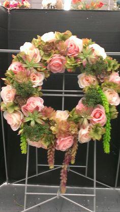 Spring Succulent designed wreath...Robin Evans