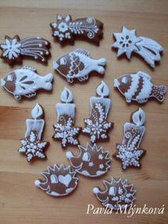 ježek,svíčka.. Christmas Time, Christmas Crafts, Christmas Decorations, Christmas Gingerbread, Gingerbread Cookies, Chrismas Cake, Diy Cake, Sweet And Salty, Cookie Decorating