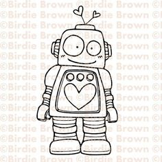 I love quirky characters, this robot is cute