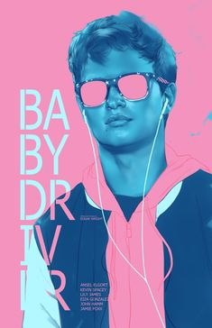 Fan of action thrillers and want some cool posters from Baby Driver? Check out our awesome Baby Driver poster collection. Ansel Elgort, Motion Design, Love Movie, Movie Tv, Movies Showing, Movies And Tv Shows, Baby Driver Poster, Amor Simon, Ben Oliver