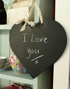 Loving this handmade heart shaped chalkboard - only £13.95