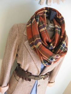 """Infinity scarf. 1.75 yards of fabric (only if you don't want 2 seams. buy only 7/8 yrd. if you don't mind piecing it) finished 63""""x22"""""""
