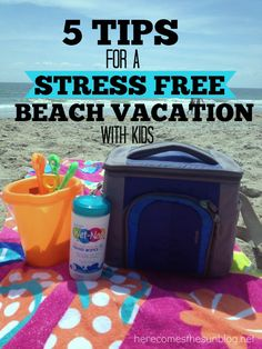 5 Tips for a Stress Free Beach Vacation with Kids  || Ashley Furniture Home Store #AshleyRecommends