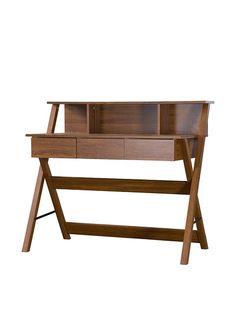 Baxton Studio Crossroads II Writing Desk, Dark Brown, http://www.myhabit.com/redirect/ref=qd_sw_dp_pi_li?url=http%3A%2F%2Fwww.myhabit.com%2Fdp%2FB00PNA2J9W%3F