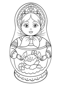 madame alexander coloring pages | Новости | Трафареты | Coloring pages, Matryoshka doll ...