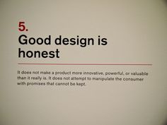 10 Principles for Good Design from Dieter Rams