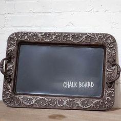 Decorative Metal Chalkboard Tray | Decorative Chalkboards