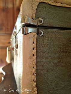 Thrift Store Suitcase Up-Cycled with Paint and Wax | Hometalk