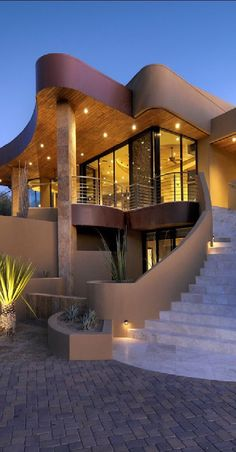 If you need ideas for a luxury and unique Architecture project, inspired by our selection and see more on this board. Unique Architecture ideas for your Luxury Home. Dream Home Design, Modern House Design, Dream Mansion, Mansion Houses, Luxury Homes Dream Houses, Dream House Exterior, House Goals, Style At Home, Luxury Real Estate