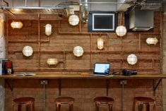 Gensler designed the offices for the Nest located at Cherryduck studios in London, England. A striking, architect-designed, creative co-working hub called Industrial Office, Industrial Pipe, Co Working, Design Strategy, Coworking Space, Architect Design, East London, Light Fixtures, Nest