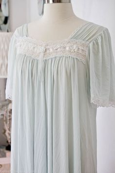 Blue Vintage Nightgown -  60s
