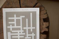 Palavras cruzadas dos noivos! dica de papelaria de casamento! http://lapisdenoiva.com/home/palavras-cruzadas