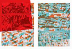 éditions polystyrène: polychromie Menu Layout, Restaurant Menu Design, Print Finishes, 2 Colours, Layout Design, Quilts, Blanket, Projects, Illustration
