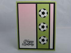 Handmade Greeting Card:  Soccer Birthday by DawnsGreetingCards