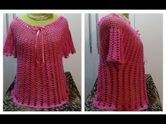 Aprende a tejer blusas en todos los talles paso a paso