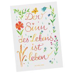 Diese und viele weitere Postkarten findest du auf www.pandaliebe.de Mr Und Mrs Panda, Motivation, Products, Paper, Meaning Of Life, 40 Years, Postcards, Invitations, Daily Motivation