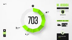 Nike+ UX Infographics + Pictograms