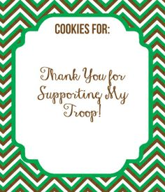 Free Printable Girl Scout Cookie  Thank you's!!