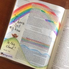 Genesis 9:13-15 I got an art journal for my birthday! I'm starting with…