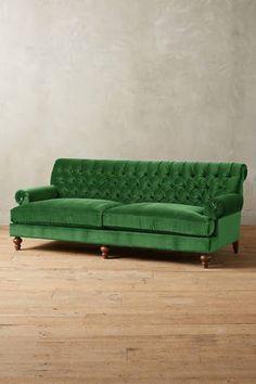 this Anthropologie green velvet sofa (affiliate)
