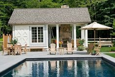 Coastal cottage pool house