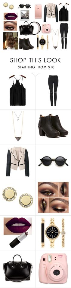 """""""Untitled #190"""" by karime-gonzalez ❤ liked on Polyvore featuring Topshop, With Love From CA, FOSSIL, Style & Co. and Givenchy"""