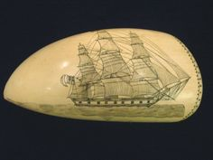 Scrimshaw – Antique Whale's Tooth Art