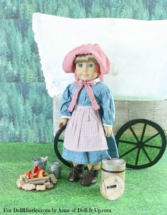 Camp Doll Diaries- Go Exploring in a Covered Wagon! — Doll Diaries... This used to be a favourite past time of mine when young...I pretended the bed was my covered wagon. Anna at the link above is very talented! LH
