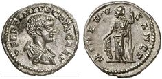 AR Denarius. Roman Coin, Roman Empire, Geta, caesar 198-209 AD, struck under Septimius Severus, Laodecia a. M. 202 AD. 3,52g. RIC 329, 105a. Good EF. Price realized 2011: 325 USD.