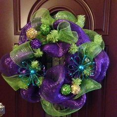 My first attempt at mesh wreath making