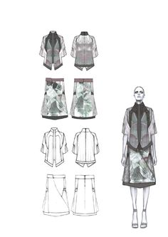 Fashion Sketchbook - fashion design flats, fashion illustration, fashion portfolio // Amy Dee