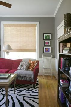 Paint color: Dovetail by Sherwin Williams.