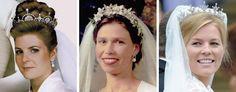 royalroaster: British Royal Brides in Tiaras-Viscountess Linley in the Lotus Flower/Papyrus Tiara, 1993; Lady Sarah Chatto in the Snowdon Floral Tiara, 1994; Autumn Phillips in the Festoon Tiara, 2008