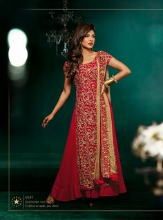 Buy Red Stylish Suit - 5037 • Delhi 6 Store
