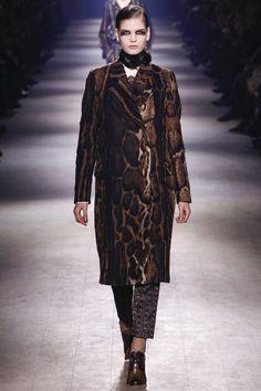 Dries Van Noten Fall 2016 Ready-to-Wear Fashion Show beautiful Jaguar print, though