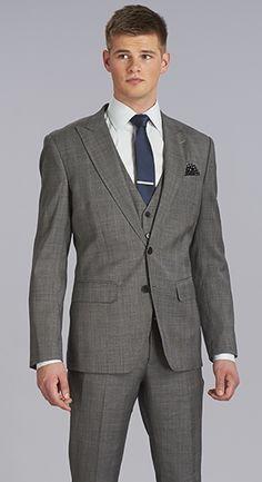 Eph Apparel The Grey Glenplaid Three Piece Suit