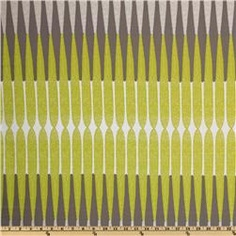 horiz 1.25  vert 35  $15/yd  Ty Pennington Home Decor Impressions Bamboo Stripe Chartreuse