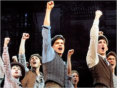 Jack (Jeremy Jordan) takes the lead in Newsies. More reviews at Curtain Critic: http://www.curtaincritic.com