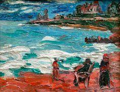 """""""En la Playa"""" Autor: Quinquela Martin #mardelplata #mdq #arte #art #painting"""